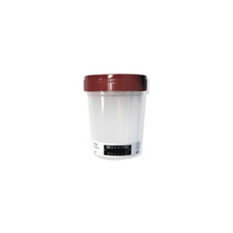 Urine collection cup with temperature